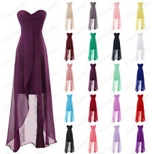 2017 New Stock Hi-Lo Ball Party Bridesmaid Dresses   Evening Cocktail Prom Gowns