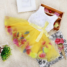 Toddler Princess Party Tutu Lace Bow Skirt Girl Floral Dress for 0-4Y Baby A73