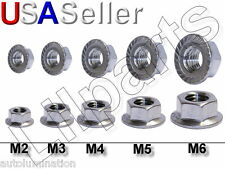 Stainless Steel SS Hex Head Serrated Flange Nuts Metric 304 18-8 M3 M4 M5 M6 New