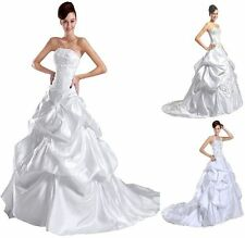 New white/ivory wedding dress Gown Bridal Gown Stock Size 6-8-10-12-14-16-18