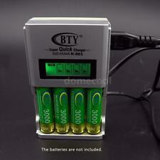 BTY 4 Slot Quick Speed Smart LCD Charger for AA/AAA Ni-MH/Ni-CD Battery ON12