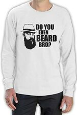Do You Even Beard Bro Cool Gift Funny Long Sleeve T-Shirt Bearded Men Apparel