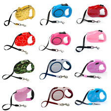 Dog Lead Retractable Leash Flexible Small Puppy Dog Pet Auto Lead 3/5m Long Rope