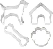 4 Piece Dog Bone Doghouse Paw Treat Cookie Cutter NEW Puppy Party
