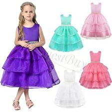 Princess Beaded Tulle Baby Girl Dress Infant Toddler Pageant Bridal Prom Dress