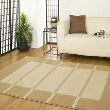 LARGE VISIONA SOFT LUXURY FLAIR RUGS TONAL TEXTURED 3D STRIPED BLOCK MODERN RUG