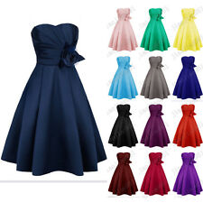 Stock New Short Satin Ball Party Bridesmaid Dresses Evening Cocktail Prom Gowns