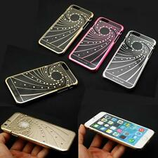 Luxury Clear Crystal Bling Plating Hard Back Cover Case For iPhone 6 & 6 Plus