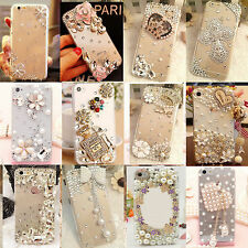 Bling Diamond Rhinestone Crystal Jewelled Clear Case Cove For iPhone / Samsung