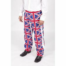 Union Jack Flag Designer Trousers - British Made - Small to 6XL sizes