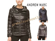 Andrew Marc Women's Hooded Packable Featherweight Down Jacket! #818465