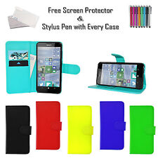 Leather Pu Wallet Flip Case Cover Card ID Holder For Nokia Lumia Various Phones