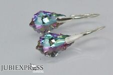 BAROQUE 16 GENUINE SWAROVSKI CRYSTAL EARRINGS - 925 STERLING SILVER many colors