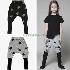 Fashion Kids Boy Girl Funny Stars Print Cotton Trousers Toddlers Harem Pants New