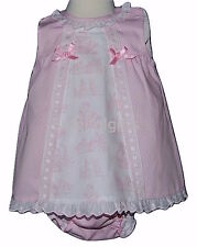 Baby Girls Spanish Pink Pastoral Print Summer Dress & Pants Newborn 0-18 Month