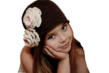 Baby Girl Hot Kid Toddler Handmade Crochet Knit Flower Hat Cap Beanie Photo Prop