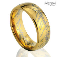 Tungsten Carbide Gold Dome One Men Jewelry Band Promise Lord of the Elvish Rings