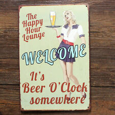 Metal Vintage Tin Plaque Pub Decor Tavern Bar Sign Wall Poster Shop Retro Home