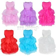 Flower Girl Princess Kids Party Pageant Wedding Bridesmaid Tutu Baby Dress 2T-6