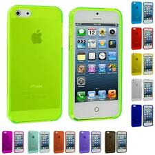 Clear Transparent TPU Plain Rubber Skin Case Cover for Apple iPhone 5 5G