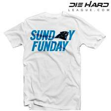 Carolina Panthers Sunday Funday White T Shirt