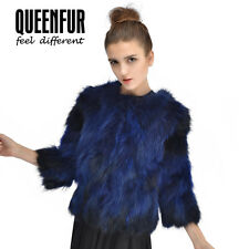 Queenfur Real Raccoon Fur Coat Natural Raccoon Fur Outwear Winter Women Jacket