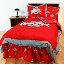 Ohio State Buckeyes Comforter Sham & Bedskirt Twin Full Queen King Size CC Size