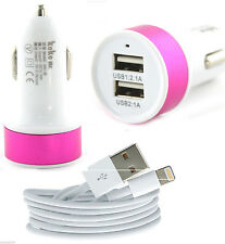 2.1Amp Dual Mini Usb Port Car Charger Adapter & Data Cable For IPad 4,Air,IPod P