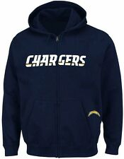 San Diego Chargers NFL Mens Full Zip Time Delay Hoodie Navy Big & Tall Sizes