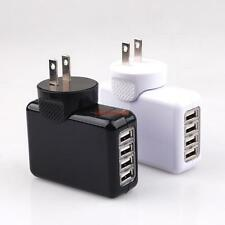 US Plug 10w 2.1A 4 Port USB Portable Home Travel Wall Charger AC Power Adapter