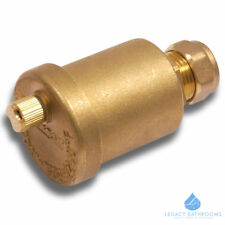15MM AUTO BOTTLE AIR VENT VALVE CENTRAL HEATING SPARE PART Compression Brass