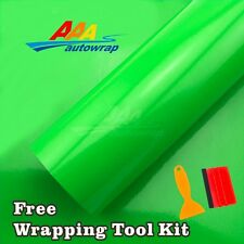 Gloss Flat Green Vinyl Car Wrap Sticker Decal Film With Bubble Free Air Release