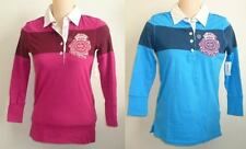 Womens AEROPOSTALE Jersey Striped Rugby Polo Shirt NWT #8769
