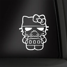 Hello Kitty Stormtrooper 6 Inch Vinyl Decal Star Wars Sticker Multiple Colors!