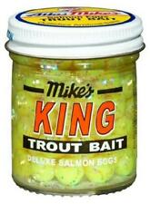 Atlas Mike's King Deluxe Salmon Eggs Trout Bait Yellow Glitter 1.6 oz Jar NEW