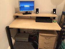 Computer Office Desk Large with Drawers