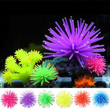 Aquarium Soft Plastic Coral Fish Tank Silicone Ornament fluorescence Plant Decor