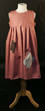 Girls DUSKY PINK Victorian-Edwardian-Annie-Orphan-Workhouse Fancy Dress Costume