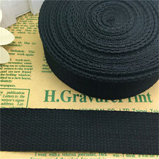 5/10/50 Yards Black 1Inch (25mm)  Width Length Nylon Webbing Strapping Pick U