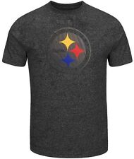 Pittsburgh Steelers NFL Mens Endzone Marled Shirt Charcoal Big & Tall Sizes