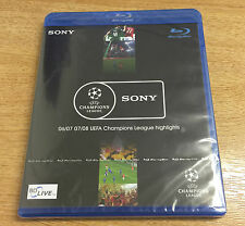 UEFA Champions League Highlights 06/07 07/08. Blu Ray DVD Brand New. FREEPOST