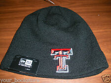New Texas Tech Red Raiders New Era Basic Knit Beanie NCAA Hat Ski Cap Lids