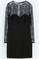 NEW Zara Black Combined LACE DRESS SOLD-OUT SIZES XS S