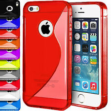 S-Line TPU Case Wave Gel Plastic Protective Cover for Apple iPhone 5 5s