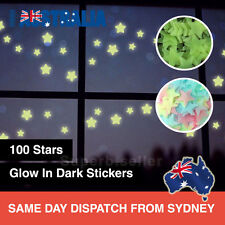 100PCS Home Wall Glow In The Dark Stars Stickers Decal Baby KIDS Nursery Room