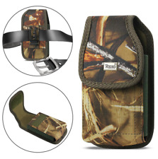 OEM REIKO Camouflage Vertical Canvas Clip Case for Phone with Otterbox Defender