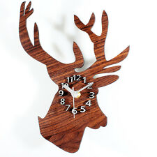 Wall Clock Deer Head Fashion European Pastoral Creative Time Home Decor