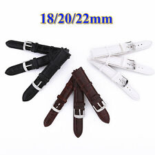 High Quality 18/20/22mm Croco Grain Style Faux Leather Wristwatch Band Strap