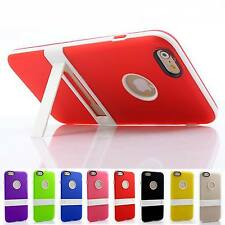 """Ultra Thin Candy Color Rubber Stand Kickstand Case Cover for Apple iPhone 6 4.7"""""""
