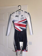GB OFFICIAL Cycling Skin Suit / Podium Adidas Track Racing Skinsuit LS Mens